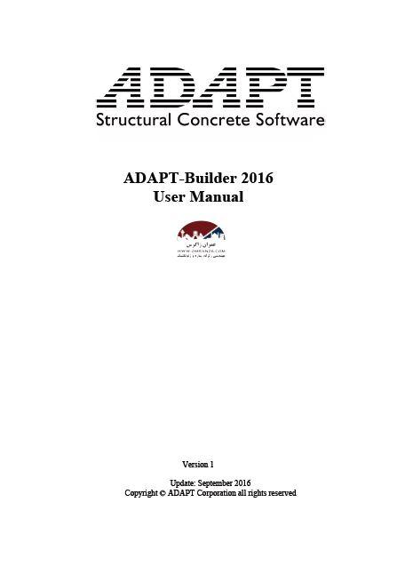 ADAPT-Builder 2016 User Manual