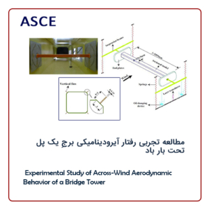 Experimental Study of Across-Wind Aerodynamic Behavior of a Bridge Tower